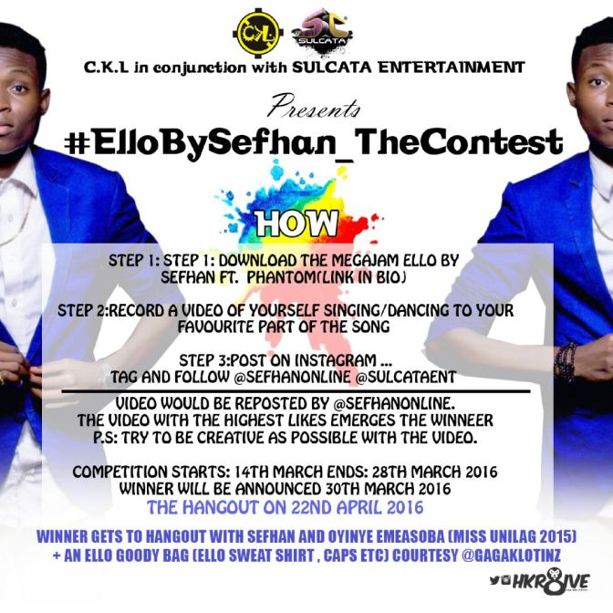 #LifeInUnilag: WIN BIG in 'Ello By Sefhan – The Contest' Get in here for details!