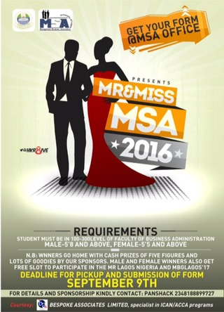 #LifeInUnilag: Management Students Association set for the Mr&Miss MSA! – Details here
